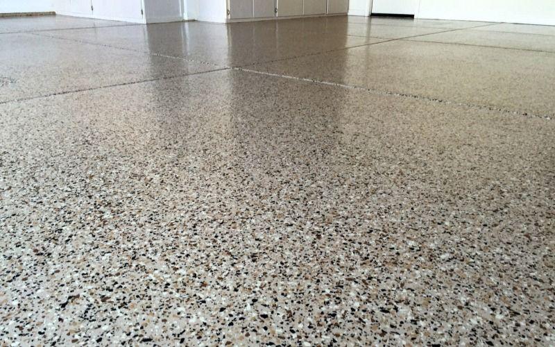 A-Plus Garages Brindle Flake Epoxy Flooring System