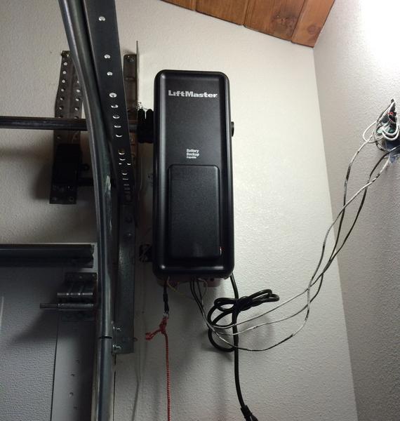 After pic of installed Liftmaster 8500 garage door opener