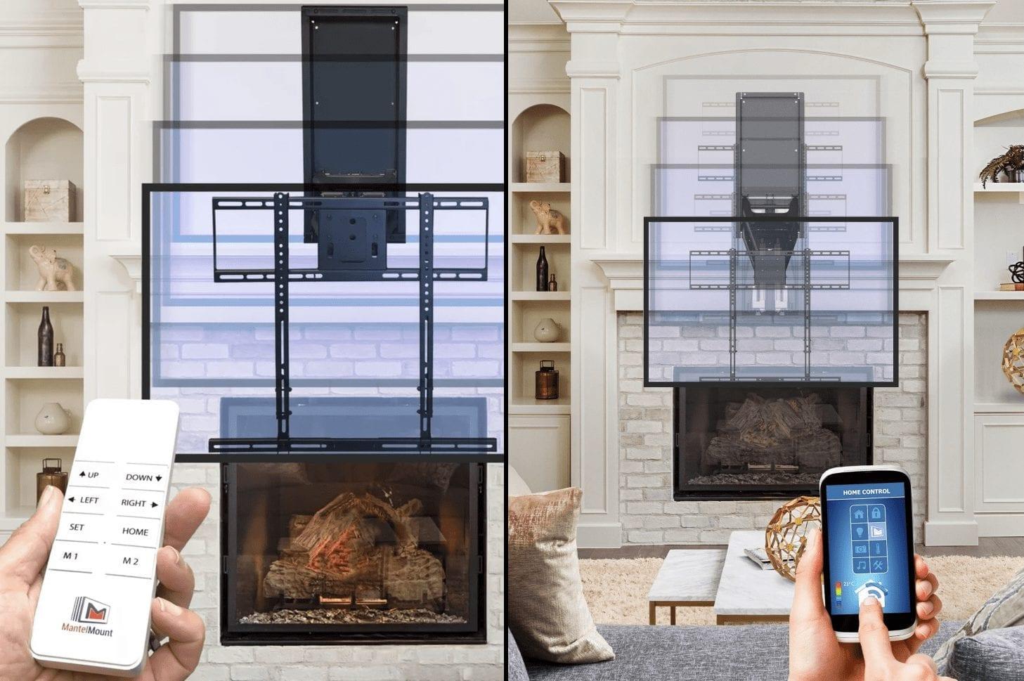 MantelMount 860 motorized TV mount